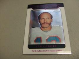 2005 Topps Chrome #156 Jake Scott 'The Miami Dolphins 1972 Perfect Seaso... - $3.12