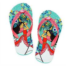 Elena Of Avalor Disney Princess Flip Flops Beach Sandals Nwt Toddler's Size 7-8 - $8.39