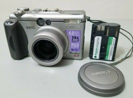 Canon PowerShot G3 4.0MP Digital Camera - Silver *Fair/tested* w/Battery - $24.74