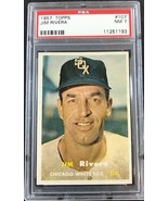 1957 Topps  #107 JIM RIVERA  PSA 7 NM  Chicago White Sox - $19.75