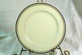 Hutschenreuther Gelb Turvel Shaped HUT374 Salad Plate 3 Color Bands - $4.84