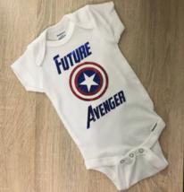 Avenger Baby, Captain America Baby, Marvel Baby Gift, Superhero Baby - $14.50