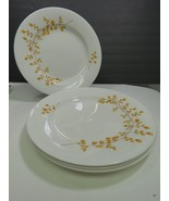 Set of 4 Martha Stewart Collection Macys Maidenhair Fern Yellow Plates 1... - $43.56
