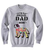 Saint bernard dog - proud dad c - NEW COTTON GREY SWEATSHIRT- ALL SIZES - $31.88