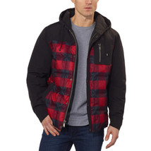 Pendleton Men's Red & Black Plaid 650 Fill Down Jacket Coat with Hood Large NWT image 2