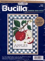 Bucilla Apple Delight Bees Linda Bird Cross Stitch Kit 42007 - $17.95