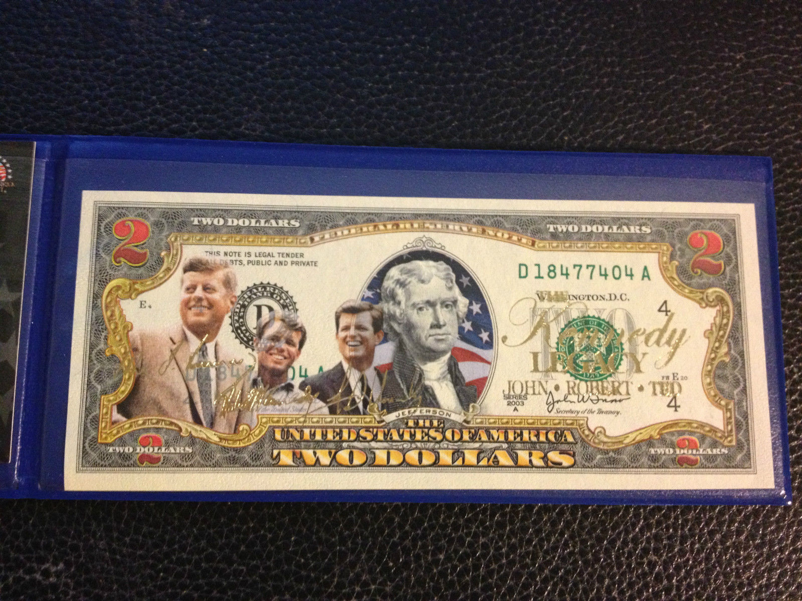 Legal GIFT U.S.A $2 Bill *LICENSED* *New*GONE WITH THE WIND O/'Hara /& Butler