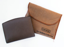 Coach Vintage Madison Card Case Wallet Caviar Leather Made in Italy Dustbag - $47.50