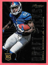 2014 Odell Beckham Jr. Panini Prestige Draft Picks Rookie 10/10 - NY Giants - $28.49