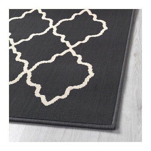 "Ikea Hovslund Rug Low Pile Dark Gray New 2' 7"" x 6' 7"""