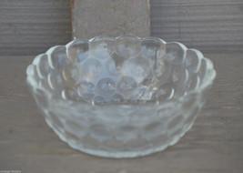 Old Vintage Anchor Hocking Fruit / Dessert Bowl Bubble Clear Glass Patte... - $8.90