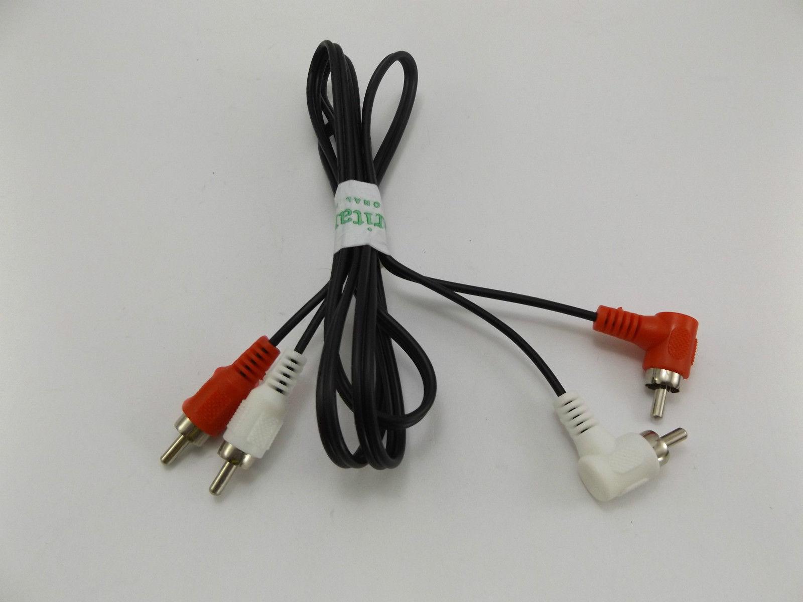 Cavo audio stereo bianco Rono Phono RCA da 120 cm ad angolo retto