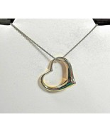 """Tiffany & Co Elsa Peretti 18K Gold XL Extra Large Open Heart Necklace 35mm 1/38"""" - $1,548.11"""