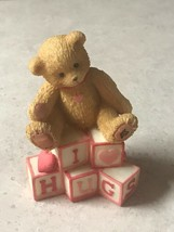 Cherished Teddies I LOVE HUGS Blocks Valentine Day Figurine 1996 #902969 - $7.85