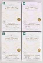 "4X Wondershop Dewdrop String LED Lights 30 ct Warm White Copper Wire 10'9"" New"