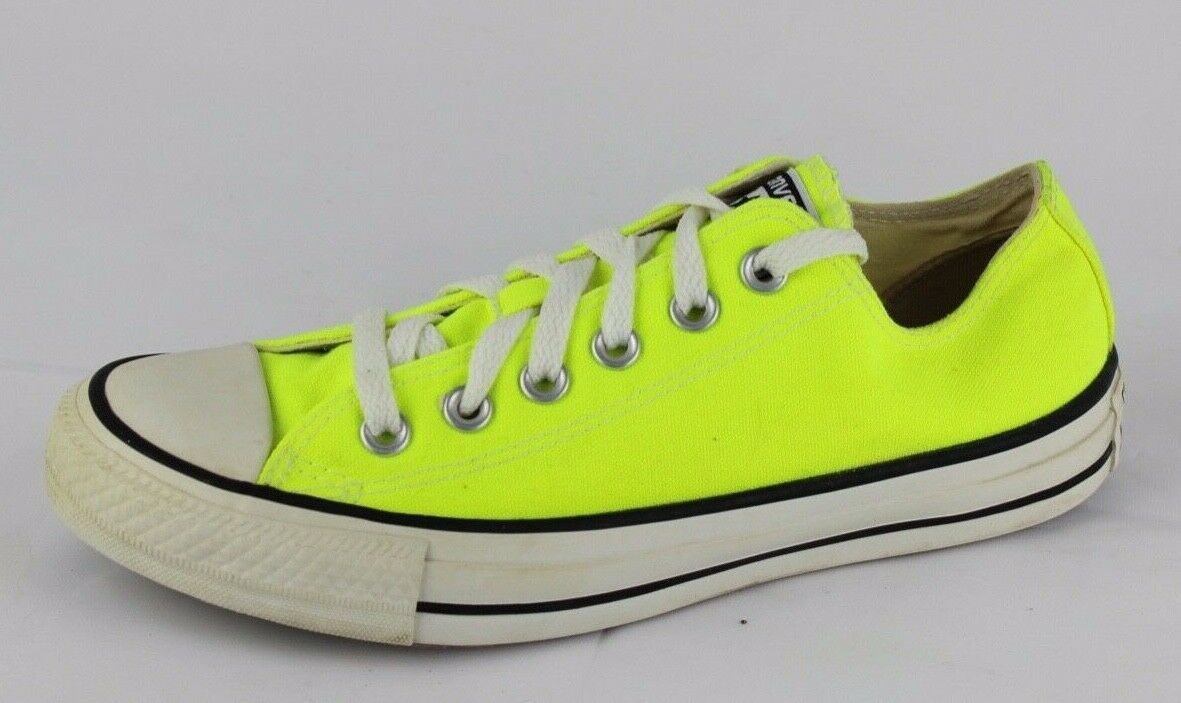 Converse all star unisex canvas neon low top sneakers size men's 5 women's 7