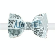 Stylish Bow Tie Newspaper Design Pattern Men Ties Neckties Boys Bow Ties Type B