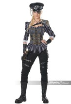 California Costumes Steampunk Captain Goth Adult Womens Halloween Costum... - $45.22