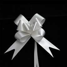 10 Large Pull Bow Silver Ribbons Wedding Wedding Party Car Gift Decorations - $2.43