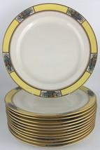 Lenox M3B set of (12) twelve salad / luncheon plates - yellow / floral - $275.00