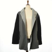 Calvin Klein Plus 2X Color Block Open Front Jacket Gray Black MSRP $149.50 - $74.95
