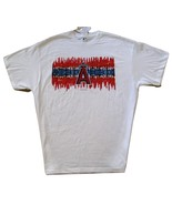 MLB Los Angeles Angels White T Shirt Scribble Logo Design Red & Blue 3XL... - $15.99