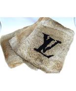 LOUIS VUITTON Echarpe Rabbit Fur Muffler Scarf Brown NEW - $1,777.55