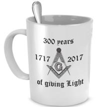Freemason coffee mug - 300 years of freemasonry - Masonic accessories gift cup - $20.90