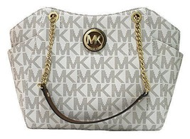 NEW MICHAEL KORS JET SET TRAVEL VANILLA LARGE CHAIN SHOULDER TOTE BAG PURSE - $169.00