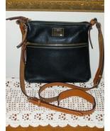 Dooney & Bourke Small Roxy Black Pebbled Leather Crossbody Shoulder Bag ... - $89.99