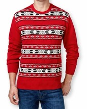 Weatherproof Vintage Men's Christmas Sweater Black Crewneck Fair-Isle Pu... - $26.99