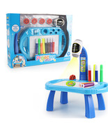 Children Led Projector Art Drawing Table(Blue with box) - $31.35