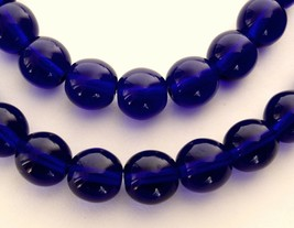 25 8 mm Czech Glass Round Beads: Cobalt - $1.59