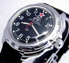 Russian Vostok Military Komandirskie Watch # 211306 New - $56.98