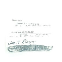 LOT OF 21 NEW KRONES 0-900-04-703-5 O-RINGS 12.37 X 2.62 MM 0900047035