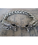 Rare! Holy Blessed Dragon Silver Bracelet Lucky Bangle Powerful Buddha A... - $24.99