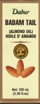 Dabur Almond Oil (Badam Oil) 3.38oz (100ml) by GIFTSBUYINDIA - $29.98
