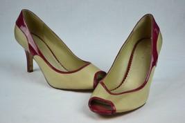 Liz Claiborne Shoes, 9M, Gold Maroon, Open Toe, Heels - $43.94