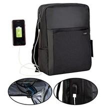 Backpack Laptop USB Charging Port Business Travel Bag College Backpacks ... - $43.36