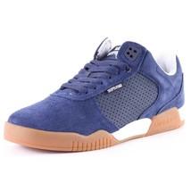 Supra Mens Navy Leather Suede Gum Ellington Lo Top Skateboard Shoes Sneakers NIB image 2