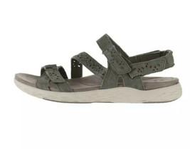 Earth Origins Suede Sport Sandals Sz 11 Westfield Wendy Sage Green Walking  - $43.49