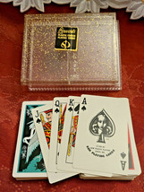 Double Deck KEM Playing Cards w/ Speckled Gold Stancraft Plastic Case image 2