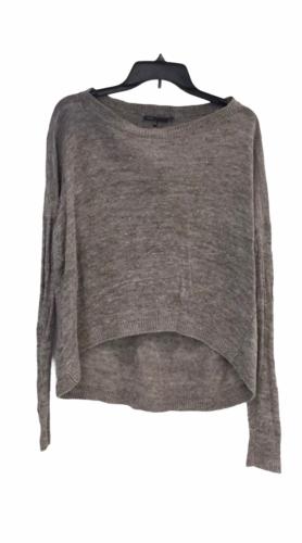 Vince Women Gray Crop Sweater Sz XS