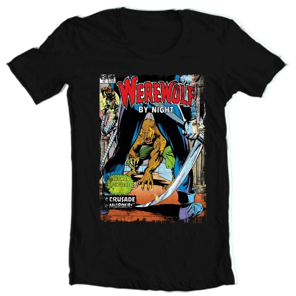 Werewolf by Night T Shirt retro 1970s Marvel Comics horror cotton graphic tee