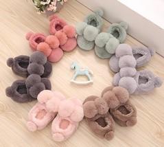 Kids Home Cute Rabbit Ears Slippers Plush Boys Girls Warm Indoor Bunny S... - $15.98+