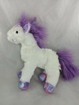 "Melissa & Doug White Unicorn Purple Mane Tail Plush 11"" - $8.95"