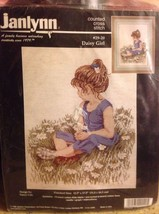 Janlynn Daisy Girl Counted Cross Stitch Kit Designed by Nancy Cole #29-2... - $14.84