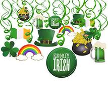 Konsait St.Patrick Day Party Decoration Swirls30pcs, St Patricks Day Hanging Dec image 5