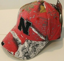 NWT NCAA Outdoor Cap Nebraska CornHuskers Adjustable Hat - Adult Camo Distressed - $24.99