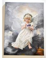 Sandra Kuck Februarys Angel Artist Signed Giclee Canvas Print Stretched NEW - $58.41